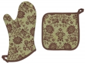 Abigail Pot Holder and Mitten