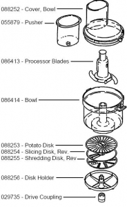 Bosch Universal Food Processor Attachment Parts