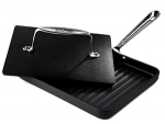 "All-Clad Nonstick ""Grille Pan"" w/ Enameled Cast Iron Panini Press"