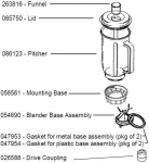 Bosch Compact Blender Assembly parts